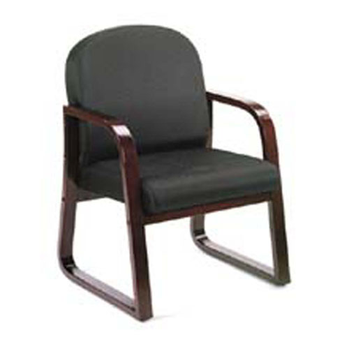 Wood Reception Chair P 202 on mahogany desk chair